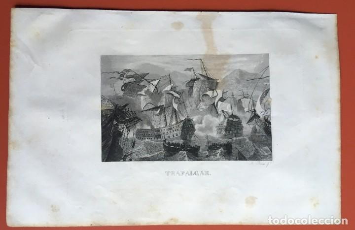 Arte: GRABADO - TRAFALGAR - 245x160 mm - ORIGINAL - Foto 2 - 198064887