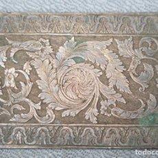Arte: MATRIZ O PLANCHA A DOBLE CARA DE COBRE. SIGLO XIX. Lote 198136291
