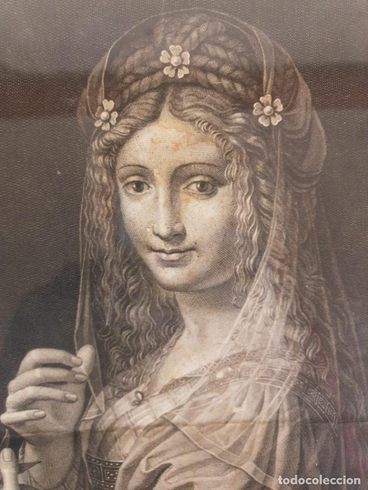 Arte: Grabado - Leonardo de Vinci - Modestia e Vanitá - Prof. Mallarini - Ang. Campanella inc - S. XVIII - Foto 4 - 198276957