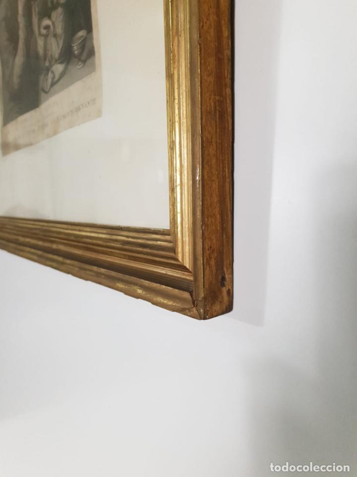 Arte: Grabado - Leonardo de Vinci - Modestia e Vanitá - Prof. Mallarini - Ang. Campanella inc - S. XVIII - Foto 7 - 198276957