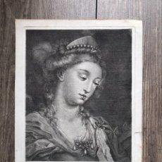 Arte: GRABADO SANTA CATALINA ALEJANDRIA ANTIGUO 1804 FR. PRECIADO DE LA VEGA - FR. FONTANALS MUSEO MNAC. Lote 198291002