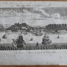 Arte: GRABADO -THE CITY OF MALACCA IN THE EAST INDIES-ENGRAVED POR MIDDLETONS COMPLETE SYSTEM OF GEOGRAPHY. Lote 198299401