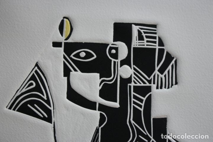 Arte: FJ Castillo Málaga 1961 Linograbado 39,5x53,5.PA. Muy buen estado.El caballero. - Foto 3 - 198338173