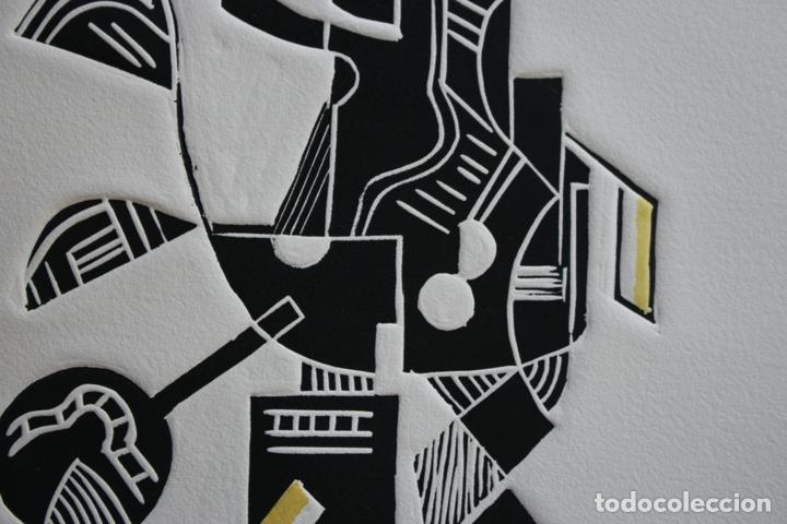 Arte: FJ Castillo Málaga 1961 Linograbado 39,5x53,5.PA. Muy buen estado.El caballero. - Foto 4 - 198338173