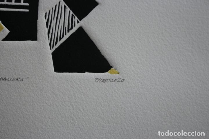 Arte: FJ Castillo Málaga 1961 Linograbado 39,5x53,5.PA. Muy buen estado.El caballero. - Foto 8 - 198338173