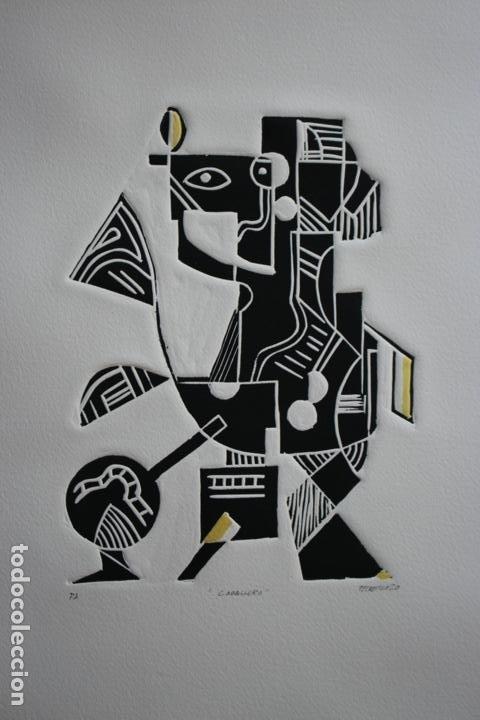 Arte: FJ Castillo Málaga 1961 Linograbado 39,5x53,5.PA. Muy buen estado.El caballero. - Foto 9 - 198338173