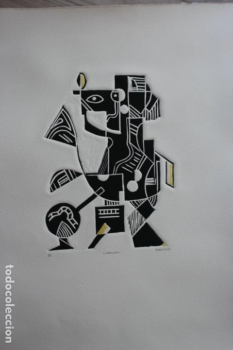 Arte: FJ Castillo Málaga 1961 Linograbado 39,5x53,5.PA. Muy buen estado.El caballero. - Foto 10 - 198338173