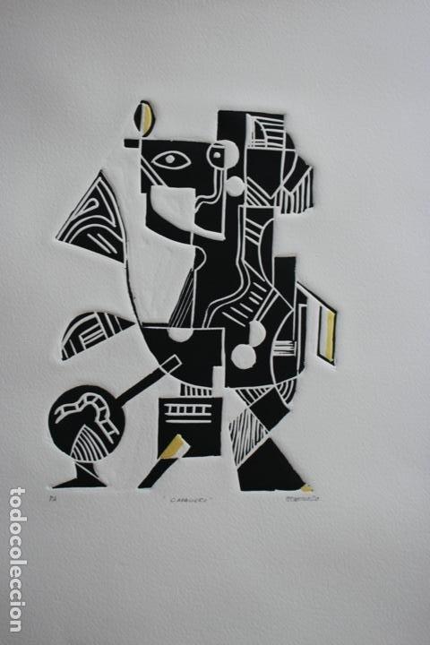 Arte: FJ Castillo Málaga 1961 Linograbado 39,5x53,5.PA. Muy buen estado.El caballero. - Foto 11 - 198338173