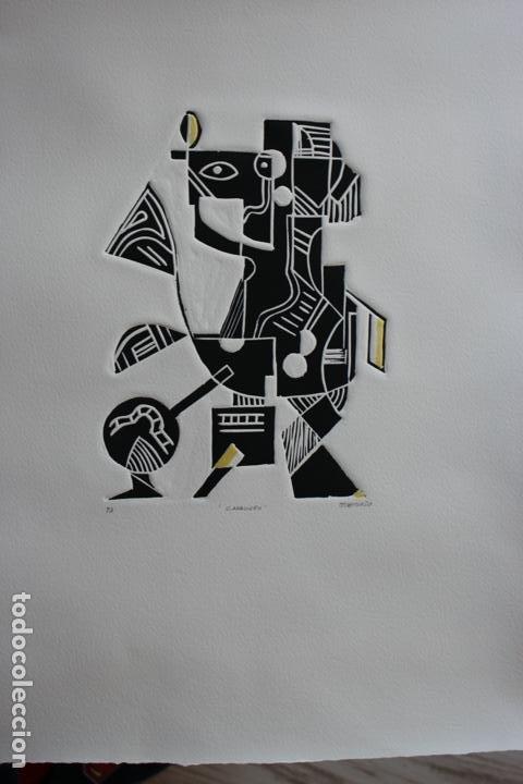 Arte: FJ Castillo Málaga 1961 Linograbado 39,5x53,5.PA. Muy buen estado.El caballero. - Foto 12 - 198338173