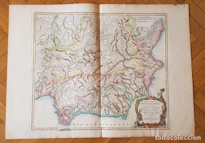 MAPA DE ESPAÑA MERIDIONAL 1751. R.VAUGONDY (Arte - Grabados - Antiguos hasta el siglo XVIII)