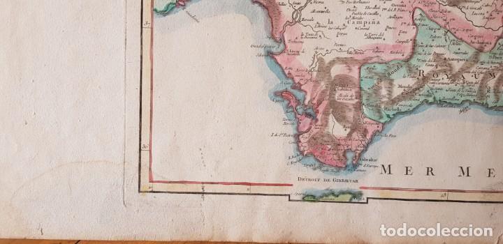 Arte: Mapa de España Meridional 1751. R.Vaugondy - Foto 4 - 198507901