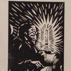 Arte: LINÓLEO EXPRESIONISTA DE 1919, FIRMADO Y NUMERADO. Lote 198533352