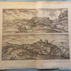 Arte: GRABADO VISTA DE LEBRIJA (SEVILLA) Y SETENIL (CÁDIZ) EN ESPAÑA, 1575. HOEFNAGEL/BRAUN/HOGENBERG . Lote 198838942