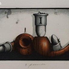 Arte: HORST RELLECKE, AGUAFUERTE DE 1981, FIRMADO Y NUMERADO. Lote 198844492