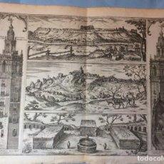 Arte: GRABADO DEL AÑO 1565 SEVILLA. SAN JUAN DEL FORATCHE, JERENNA Y LA GIRALDA. ORIGINAL DE ÉPOCA. Lote 198845207