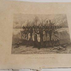 Arte: EXCELENTE GRABADO ORIGINAL 1864. 23 X 16 CM. DERROTA DE LOS FRANCESES EN BAILEN. Lote 198952381