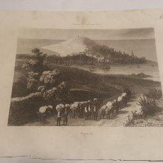 Arte: EXCELENTE GRABADO ORIGINAL 1864. 23 X 16 CM. VISTA DE LA CORUÑA. Lote 198952448