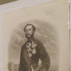 Arte: EXCELENTE GRABADO ORIGINAL 1864. 23 X 16 CM. EL GENERAL PRIM. Lote 198952567
