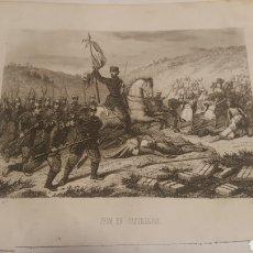 Arte: EXCELENTE GRABADO ORIGINAL 1864. 23 X 16 CM. PRIM EN CASTILLEJOS. Lote 198952603