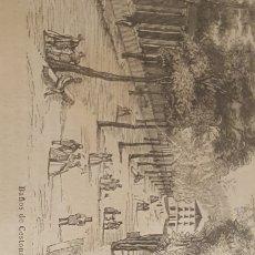 Arte: EXCELENTE GRABADO ORIGINAL DEL VIAJE ILUSTRADO. 1853. 16 X 7 CM. BAÑOS DE CESTONA. Lote 198956792