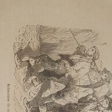 Arte: EXCELENTE GRABADO ORIGINAL DEL VIAJE ILUSTRADO. 1853. 16 X 8 CM. ASTURIANOS DE VIAJE. Lote 198956937