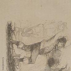 Arte: EXCELENTE GRABADO ORIGINAL DEL VIAJE ILUSTRADO. 1853. 16 X 8 CM. COSTUMBRES DE LOS ASTURES. Lote 198956978