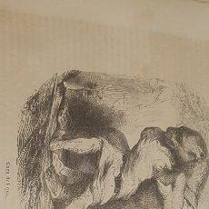 Arte: EXCELENTE GRABADO ORIGINAL DEL VIAJE ILUSTRADO. 1853. 16 X 12 CM. CAZA DEL OSO. Lote 198957010