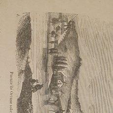 Arte: EXCELENTE GRABADO ORIGINAL DEL VIAJE ILUSTRADO. 1853. 16 X 8 CM PUENTE SOBRE MIÑO. ORENSE.. Lote 198957437