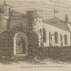 Arte: EXCELENTE GRABADO ORIGINAL DEL VIAJE ILUSTRADO. 1853. 16 X 7 CM. LA TRINIDAD. ORENSE. Lote 198957473