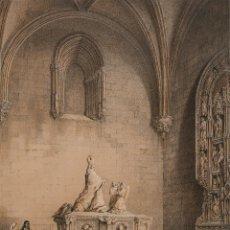 Arte: SEPULCRO DE DON MARTIN ZURBANO, EN SAN SEBASTIÁN DE AZPEITIA - GENARO PEREZ VILLAMIL (1807-1854). Lote 199105005