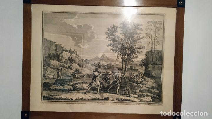 LAS CUATRO ESTACIONES. OTOÑO . NICOLAS POUSSIN (1594-1665) (Arte - Grabados - Modernos siglo XIX)