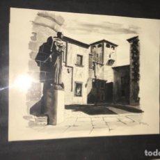Arte: CUADRO CON LÁMINA ORIGINAL PINTADA POR JUANCE 1960 CÁCERES. Lote 199323671