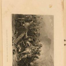 Arte: GRABADO PEQUEÑO DE LA BATALLA DE SOMOSIERRA NAPOLEÓN GUERRA INDEPENDENCIA. Lote 199505042