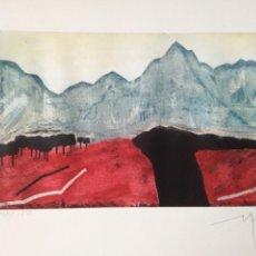 Arte: GRABADO COLOREADO DE MANUEL PARDO MARTÍNEZ (MURCIA 1951).. Lote 199622545