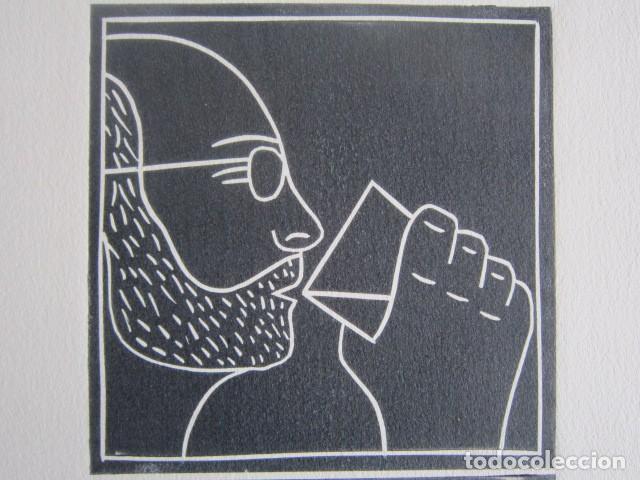 Arte: BEER (Cerveza) - Grabado sobre linóleo de GAP (Guillermo Antón) -27x39 cm - Foto 2 - 199730718