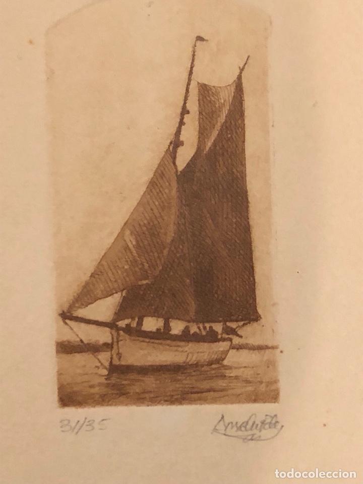 Arte: Lote de 3 grabados firmados y numerados, a clasificar - Foto 5 - 199746570