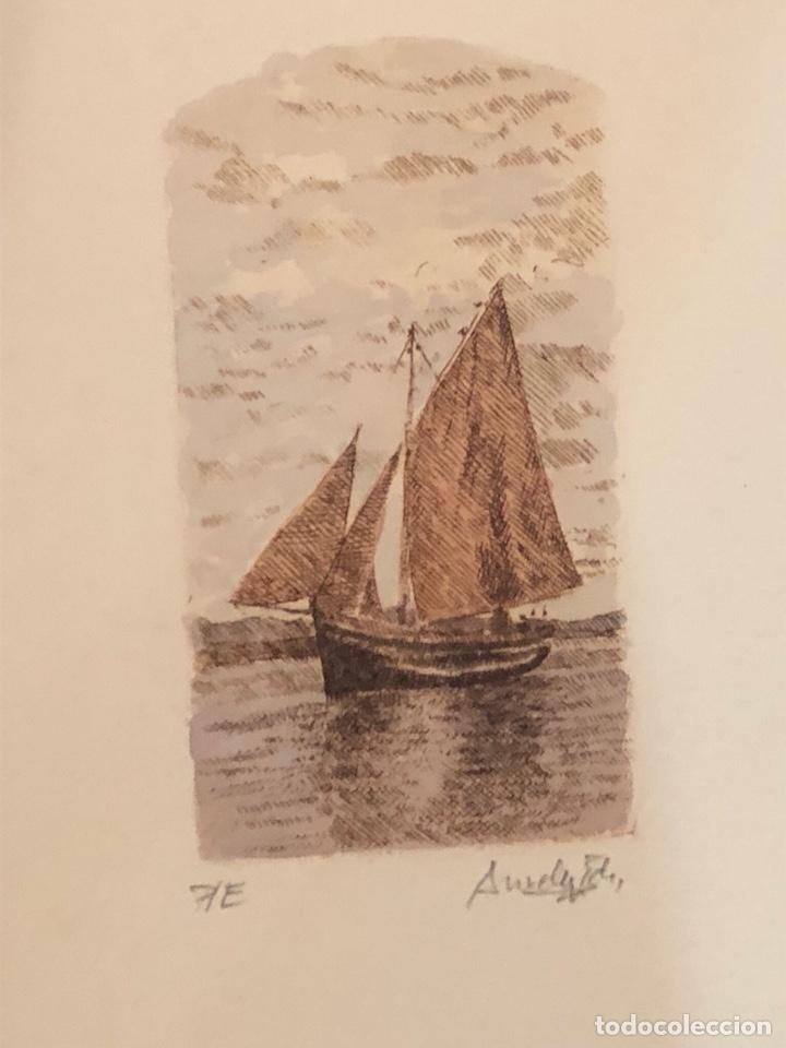 Arte: Lote de 3 grabados firmados y numerados, a clasificar - Foto 6 - 199746570