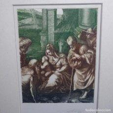 Arte: GRABADO-AGUAFUERTE DE CASTRO GIL.ADORACION.PERFECTO ESTADO.. Lote 199750307