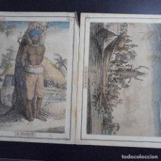 Arte: PAREJA DE GRABADOS COLONIALES SIGLO XVIII. Lote 199866582