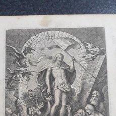Arte: GRABADOS DE SIGLO XVI-XVII CON DEMONIOS Y UN CRISTO. Lote 200271466
