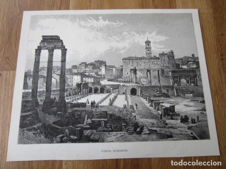 1875-GRABADO ORIGINAL. ITALIA. FORO FORUM ROMANO. ROMA (Arte - Grabados - Modernos siglo XIX)