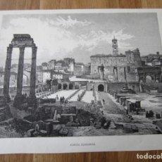 Arte: 1875-GRABADO ORIGINAL. ITALIA. FORO FORUM ROMANO. ROMA. Lote 200539083