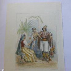Arte: BENICARLO CARTAGENA MURCIA Y ORIHUELA TIPOS MURCIANOS CASTELLON GRABADO HACIA 1830 PARIS F. CHARDON. Lote 200628180