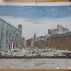 Arte: GRANADA VISTA DE LA CANCILLERIA REAL VISTA OPTICA SIGLO XVIII ILUMINADA DAUMONT 29 X 41 CMTS. Lote 200632985