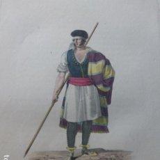 Arte: MURCIA HOMBRE MURCIANO GRABADO ILUMINADO CHASSELAT HACIA 1800. Lote 200638135