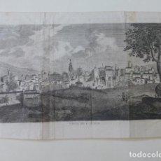 Arte: CUENCA VISTA DE LA CIUDAD GRABADO HACIA 1770 16 X 27 CMTS MUY BUEN ESTADO RARO. Lote 200895063