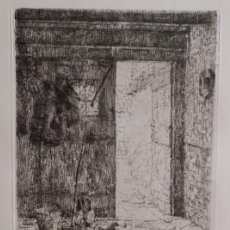 Arte: ERNA FRANK, AGUAFUERTE FIRMADO Y NUMERADO, 1913. Lote 198179610