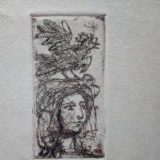 Arte: MIQUEL IBARZ (1920-1987) GRABADO EN FELICITACIÓN NAVIDAD 1962-63.. Lote 201256540