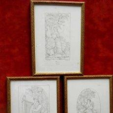 Arte: MITOLOGIA MUSAS EUSTACHE LE SUEUR GRABADO LOTE 3 CUADROS 1844. Lote 201290788