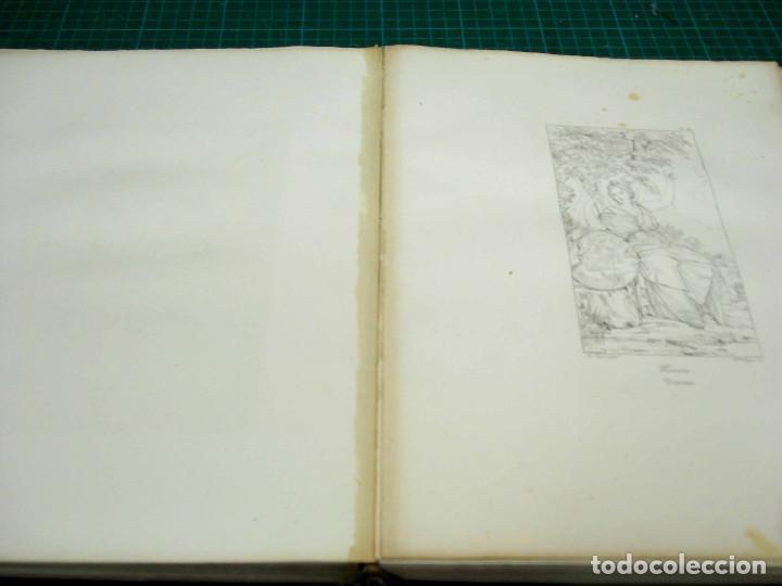 Arte: Mitologia Musas Eustache Le Sueur grabado lote 3 cuadros 1844 - Foto 2 - 201290788